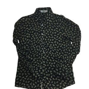 Dolce & Gabbana L/S Button Up Blouse Top Sz 42